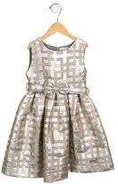 Rachel Riley Metallic Jacquard Dress