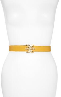 Raina Double Bee Clasp Leather Belt
