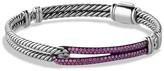 David Yurman Petite Pavé Labyrinth Single Loop Bracelet with Pink Sapphires