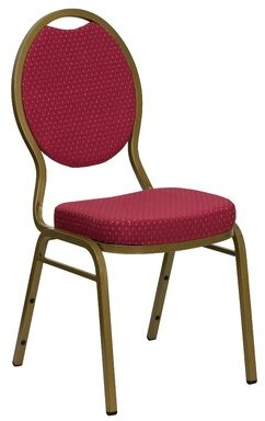 Latitude Run Gallentine Guest Chair Seat Color: Burgundy Patterned, Quantity: Set of 10