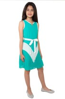 Blush by Us Angels Girl's Sleeveless Colorblock Dress