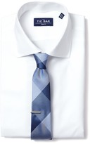 The Tie Bar White Textured Solid Non-Iron Shirt