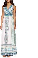 Studio 1 Sleeveless Embroidered Print Maxi Dress