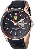 Ferrari Men's 0830185 Gran Premio Analog Display Quartz Black Watch
