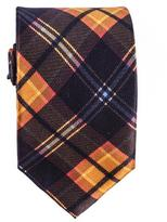 Black Atrani Check Silk Tie