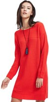 ME&CITY Women's Casual Solid Color Long Sleeve Knitted Pullover Dress, M