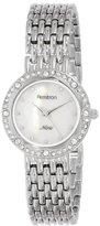 Swarovski Armitron Women's 75/5190MPSV Crystal Accented Silver-Tone Bracelet Watch