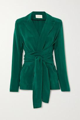MATÉRIEL Belted Cupro Blazer - Green