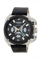 Diesel Men's BAMF Leather Strap Watch