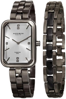 Akribos XXIV Womens 2Pc Watch & Bracelet Set
