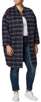 Junarose Plaid Long Sleeve Coat