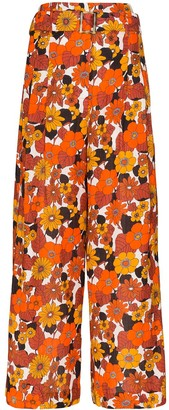 Dodo Bar Or Gigi autumn flowers trousers
