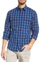 Nordstrom Trim Fit Plaid Trucker Sport Shirt