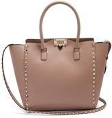 Valentino Rockstud smooth-leather tote
