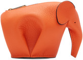 Loewe Orange Elephant Coin Pouch