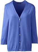 Classic Women's Plus Size 3/4 Sleeve Performance Cardigan Sweater-Clear Coral
