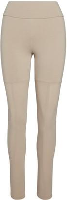 Black White Beige Leggings 001 - Beige