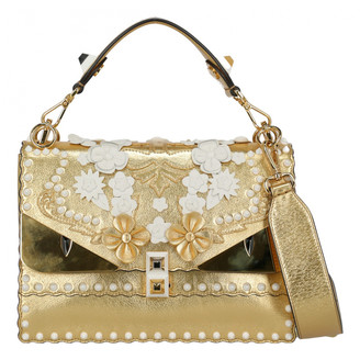Fendi Kan I Gold Leather Handbags