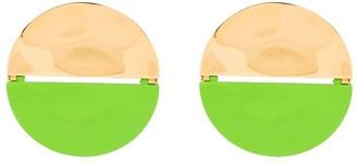 Monica Sordo Panelled Split Round Earrings