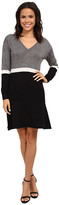 Lacoste Long Sleeve Color Block Sweater Dress