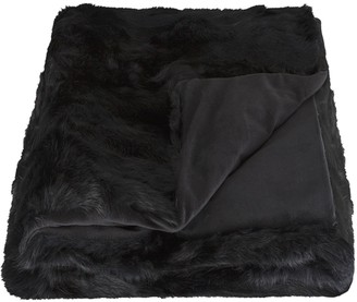 Rabbit Collection Rabbit Fur Throw Blanket
