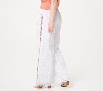 Tolani Collection Eyelet Palazzo Pants