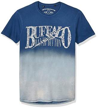 Buffalo David Bitton Men's Short Sleeve Crew Neck Single Jersey dip dye