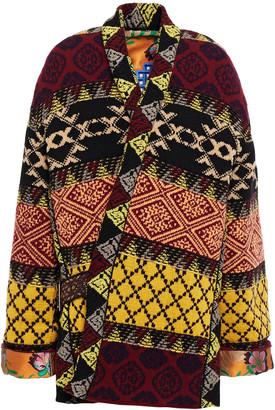 Etro Belted Wool-blend Jacquard Coat
