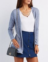 Charlotte Russe Marled Longline Open Cardigan