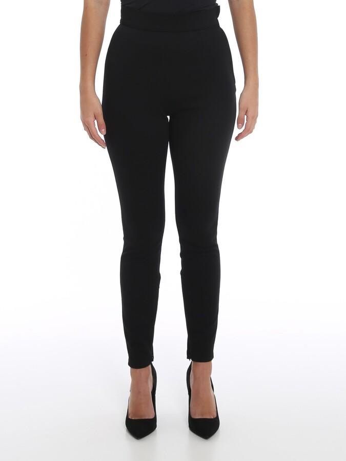 Details about  /Dolce/&Gabbana Women Black Capri Pants Cotton Blend Slim Printed Cropped Trousers