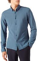 Jigsaw Jersey Shirt, Slate Blue