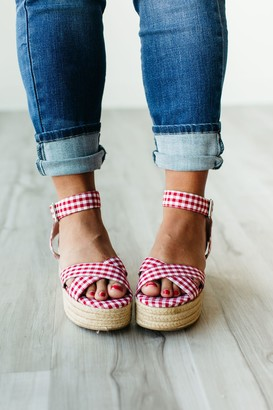 Chinese Laundry Zala Wedge Sandal - Gingham