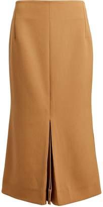 Victoria Beckham Box Pleat Wool Pencil Skirt