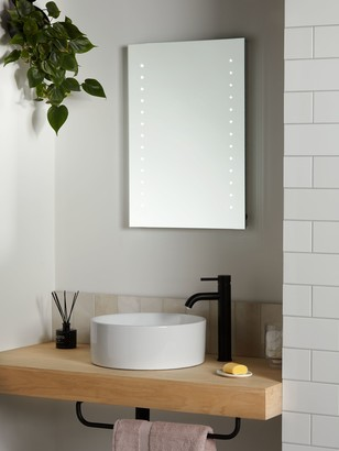 John Lewis & Partners Pixel Wall Mounted Illuminated Bathroom Mirror, Small