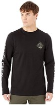 Salty Crew Tippet Trio Premium Long Sleeve Tee (Black) Men's T Shirt