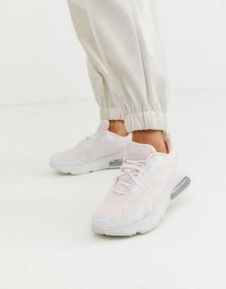Nike white and pink Air Max 200 sneakers