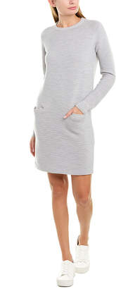 Theory Ribbed Wool-Blend Sweaterdress