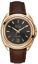 Bulova Men's Accu Swiss Automatic Leather Watch - 64B126