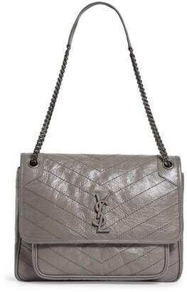 Saint Laurent Large Leather Niki Shoulder Bag