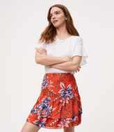 LOFT Floral Tiered Flippy Skirt