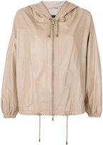 Arma - hooded jacket - women - Lamb Skin/Spandex/Elastane/Viscose - 34