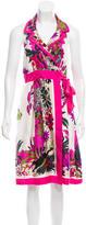 Tibi Safari Print Silk Dress