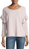 Current/Elliott The Ruffle Sweatshirt, Lilac