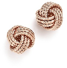 Bloomingdale's 14K Rose Gold Love Knot Earrings