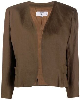 Valentino Pre Owned 1980s collarless open jacket