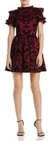 Aqua Flocked Ruffle-Sleeve Dress - 100% Exclusive