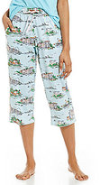Sleep Sense Lake Scene Jersey Capri Sleep Pants