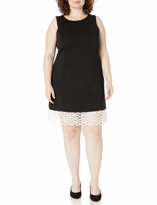 Betsey Johnson Women's Plus Size Sheath Dress with Lip Lace Hem