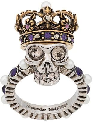 Alexander McQueen Queen skull ring