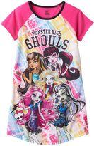 Girls 6-16 Monster High Draculaura, Frankie Stein & Lagoona Blue Dorm Nightgown
